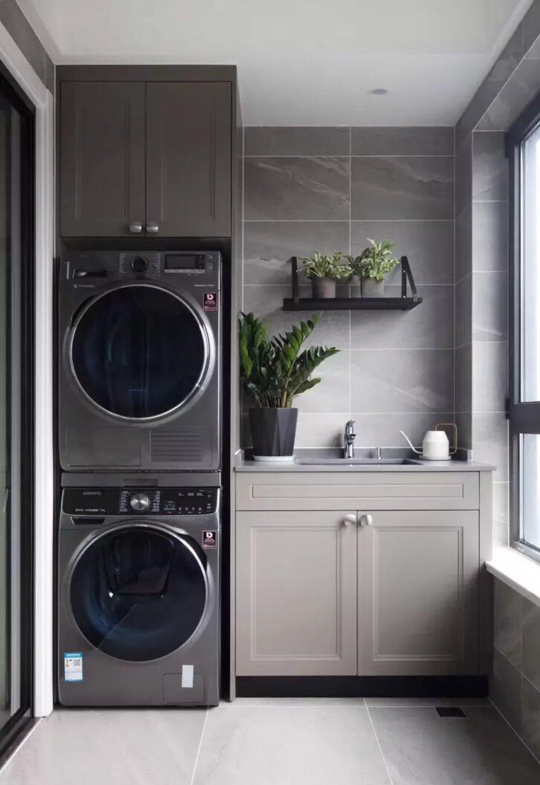 18款阳台接地厂房洗衣,文库效果图都有,很全的设计机柜图纸实景百度图片